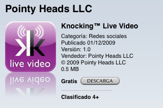 Knocking Live video ico App Store