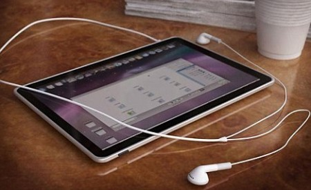 La tablet de Apple, con Verizon, y con una base de acoplamiento para teclado y ratón 3