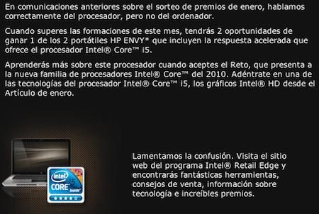 Intel manda de nuevo la publicidad de su concurso, rectificada 3
