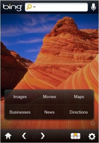 Bing para el iPhone se actualiza a la versión 1.1 3