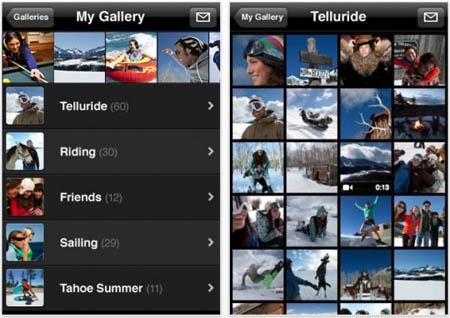 Apple lanza una aplicación que permite ver las galerías fotográficas de MobileMe en el iPhone 3
