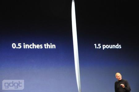 Apple Keynote: Steve Jobs desvela parte de las especificaciones del iPad 5