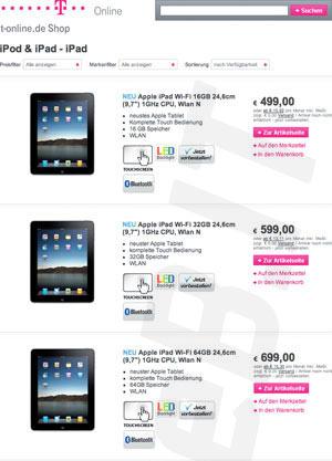 El iPad costaría €499 en Europa 3