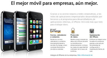 """Apple lanza el sitio web """"El iPhone en la Empresa"""" 3"""