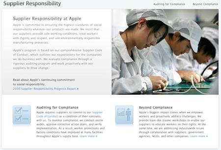 Apple lanza una pagina sobre 'la responsabilidad del proveedor' 3