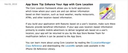 Apple empuja a los desarrolladores a competir contra AdMob con sus aplicaciones 3