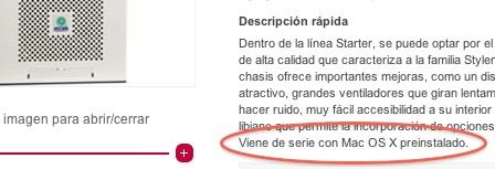 PearC España vende desde hace casi un año ordenadores no-Apple con Mac OS X dentro de la legalidad 13