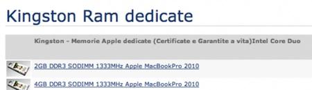 Aparecen módulos de memoria RAM compatibles con los próximos MacBook Pro 3