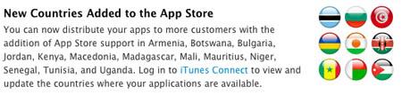 La AppStore llega a 13 países más 3