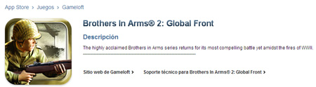 Brothers In Arms: Global Front llega a la AppStore 3