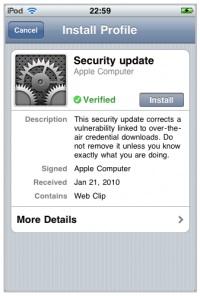 El iPhone, vulnerable a ataques remotos gracias a los perfiles de configuración 3