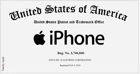 El nombre iPhone ya es marca registrada propiedad de Apple 3
