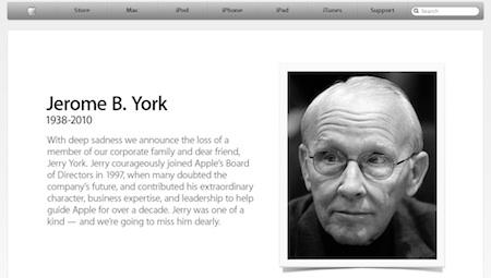 Apple dedica su web principal a la memoria de Jerry York 3