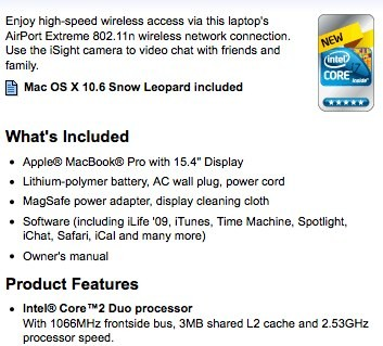 Se han visto nuevos MacBook Pro con Core i7 en Best Buy... o casi 3