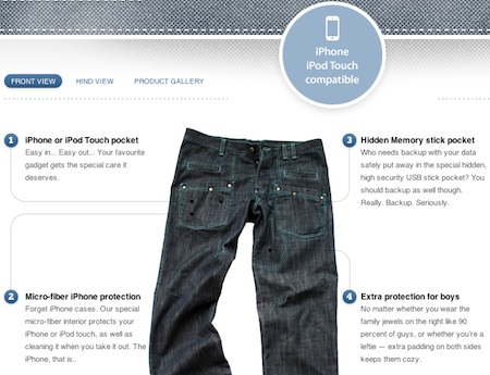 Wtfjeans, los vaqueros compatibles con iPhone e iPod touch 6