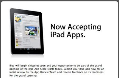 Apple comienza aceptar aplicaciones para el iPad en la App Store 3
