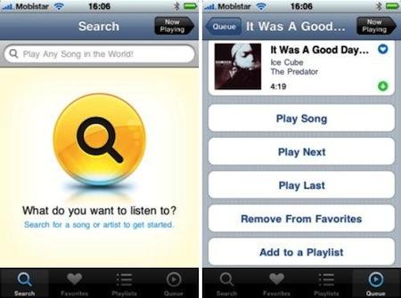 Grooveshark, rechazada de la App Store, se lanza en Cydia 3