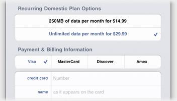 El tráfico de datos del iPad 3G se contrata, gestiona y cancela desde el mismo dispositivo 7