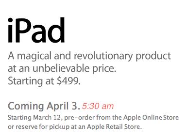 Las reservas del iPad se podrán hacer a partir de hoy en Estados Unidos 3