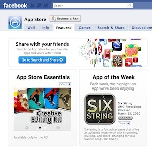 Apple lanza su App Store en Facebook 3