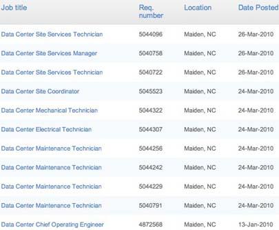 Apple comienza a contratar ingenieros para su nuevo complejo de servidores 3