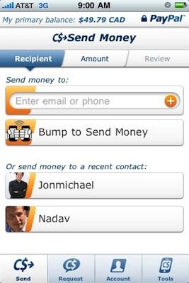 PayPal para iPhone se actualiza a la versión 2.0 3