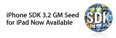 Apple libera el iPhone SDK 3.2 GM para el iPad 3