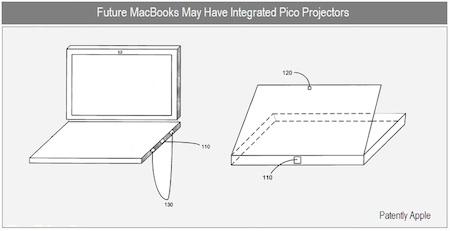 Patente de Apple desvela un portátil con microproyectores 3