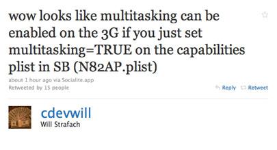 Más información sobre la multitarea en el iPhone 3G 3