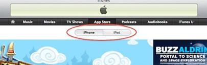 La App Store modificada para facilitar la navegación entre aplicaciones del iPhone y el iPad 3