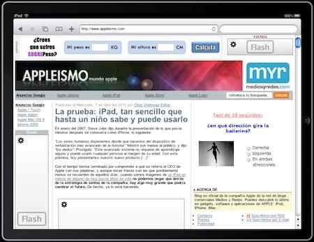 Como ver tu pagina web en un iPad, sin tener un iPad... y sin Flash 3