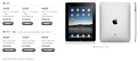 En Estados Unidos ya se puede reservar el iPad con Wi-Fi y 3G 3