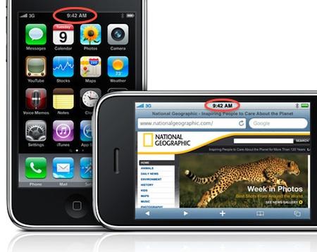 Porque algunos productos Apple marcan horas similares en la publicidad... a veces 3