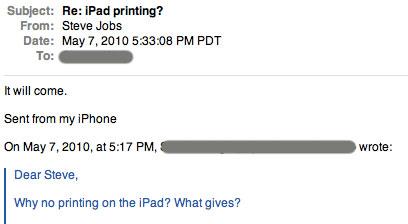 """Steve Jobs dice que la impresión desde el iPad llegará """"pronto"""" 3"""