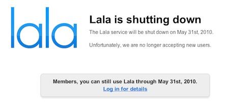 Lala anuncia el cierre... ¿y se prepara un nuevo iTunes? 3