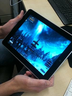 World of Warcraft corriendo en un iPad 3
