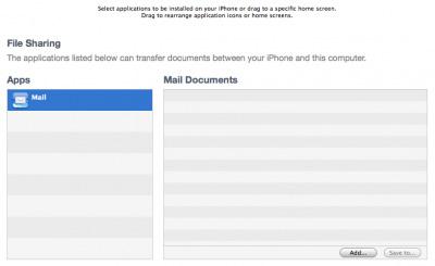 iPhone OS 4: Transferencia de archivos vía sincronización con iTunes 3