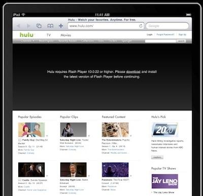 Hulu se retracta y no se pasa a HTML5 en el iPad... de momento 3
