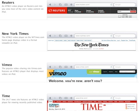"Steve Jobs asegura soporte completo de HTML5 en Safari ""pronto"" 3"