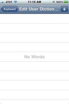 La última beta del iPhone OS 4 desvela un diccionario personalizable por el usuario 3