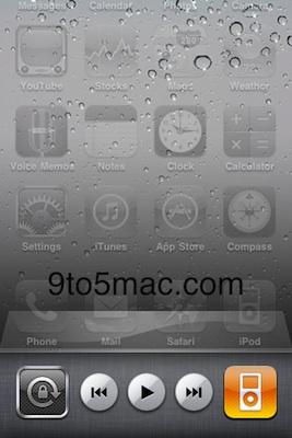 Bloqueo de rotación de pantalla y widget de iPod, añadidos al iPhone OS beta 3 3