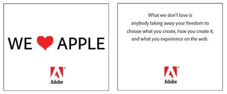 Adobe quiere reconciliarse con Apple... con corazones y mucho amor 6