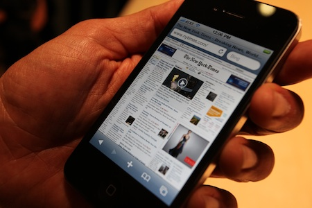 La calidad de la pantalla del iPhone 4, en una imagen 3