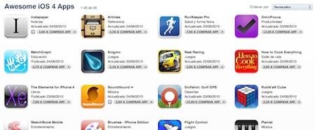 Apple lanza la categoría 'Aplicaciones impresionantes para iOS 4' 3