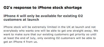 El iPhone 4 estará escaso en el Reino Unido hasta Agosto 3