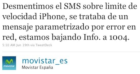 Movistar anuncia por error una bajada de velocidad en los iPhone, y luego rectifica 3