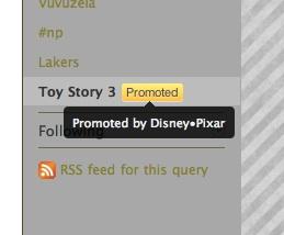 Toy Story 3 es el primer trending topic publicitario de Twitter 3