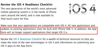 Apple anuncia que la App Store dejará de admitir aplicaciones para iOS 2.x 3