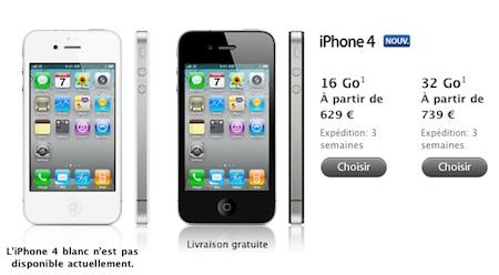 Apple Store online del Reino Unido y Francia retrasan 3 semanas los envíos del iPhone 4 3