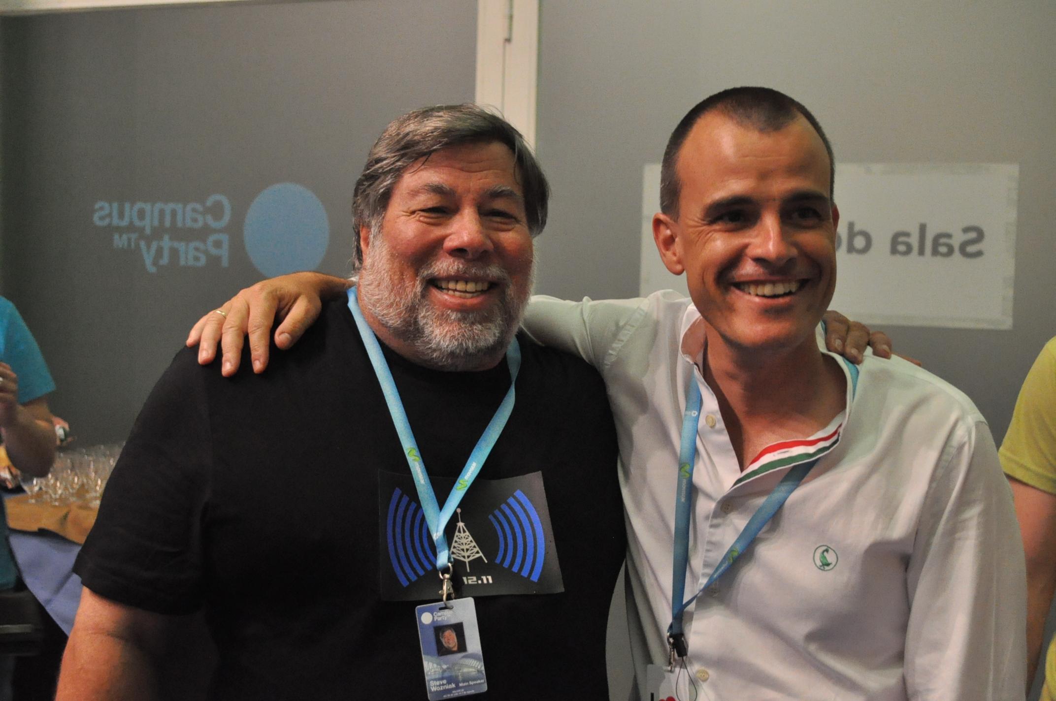 Nos tomamos unos refrescos con Wozniak en la sala VIP #CPValencia 3